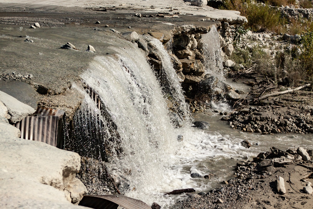 New Water fall from Old Road